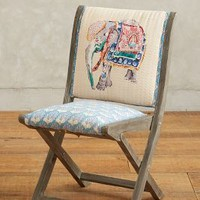 Elephant Terai Folding Chair by Anthropologie