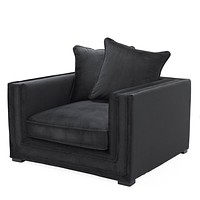 Black Pillow Back Accent Chair | Eichholtz Menorca