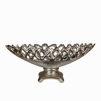 Vintage Small Metallic Bowl on Stand by Privilege