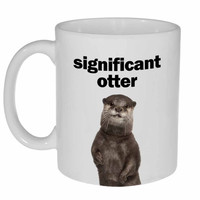 Significant Otter Funny Valentine's Day Gift Coffee or Tea Mug