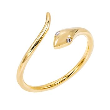 Diamond Serpent Ring 14K