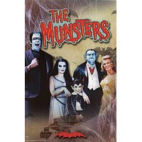 The Munsters TV Show Cast Poster 22x34