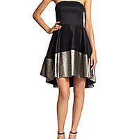 Black Halo - Plated Crepe Strapless Dress - Saks Fifth Avenue Mobile