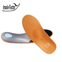 Insole Factory 3D Leather orthotics Insole for Flat Foot Arch Support orthopedic Silicone Insoles for men and women 0125