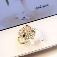 Eshop Lovely Home Button Sticker for Apple Iphone 4 4s 5 5g Ipad 1 2 the New Ipad 3 Itouch + Eshop Cable Tie (Elephant sticker)