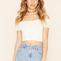 Textured Honeycomb Crop Top
