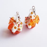 APPLEJACK CUPCAKE  earrings by FrozenNote on Etsy