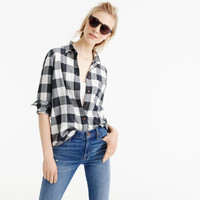 Pre-order Boy shirt in charcoal buffalo plaid
