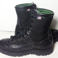 Danner Acadia 8 Black Leather Hiking Work Military Combat Boots Men's Size 10.5