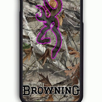 iPhone 6S Case - Hard (PC) Cover with Browning Deer Camo Plastic Case Design