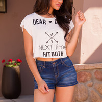 Dear Cupid Crop Top