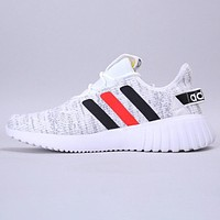 Adidas neo cf lite racer byd new fashion stripe couple shoes White