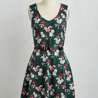 Critters Mid-length Sleeveless A-line This Day and Page Dress