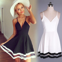 Women Sexy Summer Casual Sleeveless Party Evening Cocktail Short Mini Dress S-XL = 1902734084