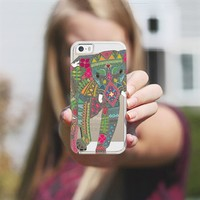 painted elephant **transparent** iPhone 5s case by Sharon Turner   Casetagram ~ get $5 off using code: 5A7DC3