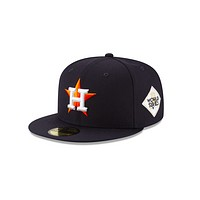 """New Era Houston Astros 2017 World Series Collection Sidepatch """"GREY BOTTOM"""" 59Fifty Fitted Cap"""