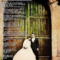 Wedding Photo First Dance Wedding Song Lyrics Photo Art Custom Photo Editing