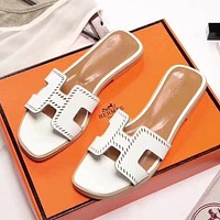 Hermes Women Fashion Slipper Flats Shoes