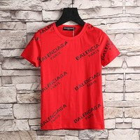 Red Balenciaga T Shirt Top Blouse Summer