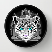 Snow Leopard Wall Clock by chobopop