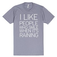 I like people-Unisex Slate T-Shirt