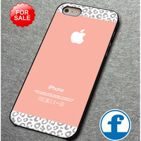 Gray Leopard Pattern on peach color   for iphone, ipod, samsung galaxy, HTC and Nexus PHONE CASE