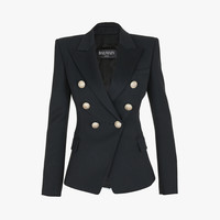 Double-breasted wool blazer | Women's blazers | Balmain