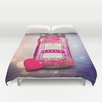 """""""Soul Purpose"""" Collection Love in Color / Mason Jar Art Duvet Cover by soaring anchor designs ⚓   Society6"""