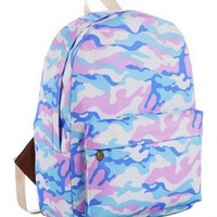 Preppy Style Print Backpack