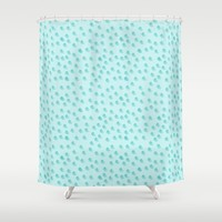 Baby Blue Dots Pattern Shower Curtain by Allyson Johnson | Society6
