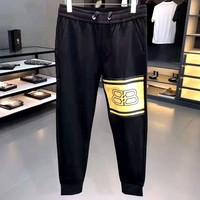 Balenciaga 2019 new double B printed casual elastic pants