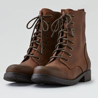 AEO Lace-Up Bootie, Brown