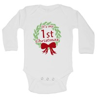 It's My 1st Christmas Funny Kids Onesuit