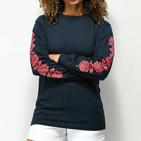 Santa Cruz Rosa Navy Long Sleeve T-Shirt | Zumiez