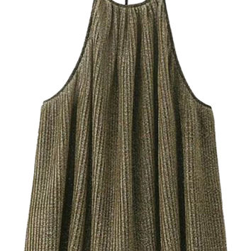 Golden Bling Bling Pleated Cami Top