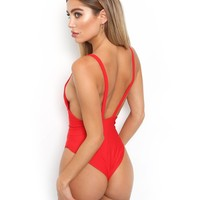 Buy Our Saffron Bodysuit in Red Online Today! - Tiger Mist