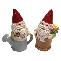 Tabletop Gnomes Salt & Pepper Set Garden Watering Can - MG178278