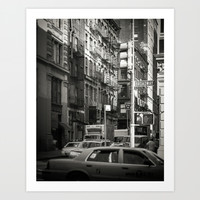 Toned streetscape in Broadway Art Print by JAY'S PICTURES