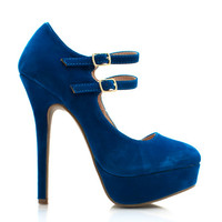 Double-Time-Mary-Jane-Pumps BLACK RED TEAL - GoJane.com