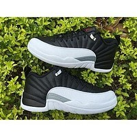 Air Jordan 12 Retro White Black Basketball 36-47