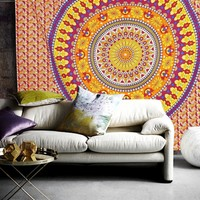 The Emerson Mandala Bohemian Bedspread Throw Wall Dorm Beach Tapestry