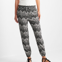 Chevron Cinched Soft Pants