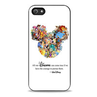 Walt Disney Quote case Mickey Mouse case Character Montage Iphone 5s Cases