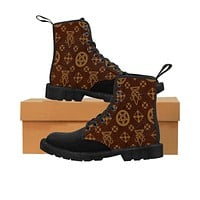 Louis Cipher Vuitton Women's Martin Boots