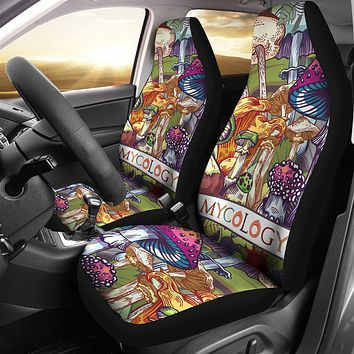 Colorful Mycology Car Seat Covers