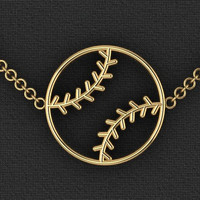 Baseball Necklace by Gameday Runway
