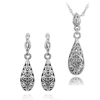 Tribal PatternTwo-piece White Gold Jewelry Set