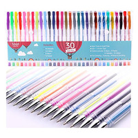 Smart Color Art - 30 Color Premium Gel Pen Set | Colors Included: Classic Glitter, Neon, Pastel & Metallic | For Coloring, Kids, Sketching, Painting, Drawing, Writing & Custom Artistic Creations!
