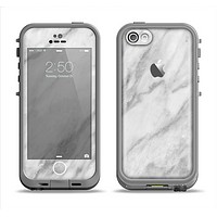 The White Marble Surface Apple iPhone 5c LifeProof Fre Case Skin Set