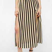 B.P. Collection Striped Slit Maxi Skirt